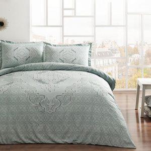 купить Постельное белье TAC Olivia Mint Серый|Зеленый фото