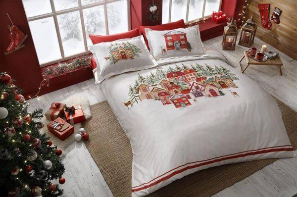 купить Постельное белье TAC Santa Красный фото