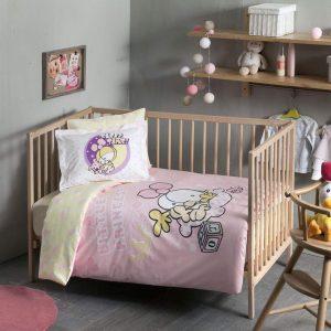 купить Детское постельное белье в кроватку TAC Sizinkiler Little Princess Розовый фото
