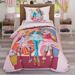 купить Детское постельное белье TAC Winx Frowers Розовый фото
