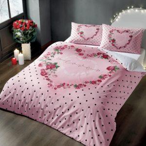 купить Постельное белье TAC Lover Розовый фото