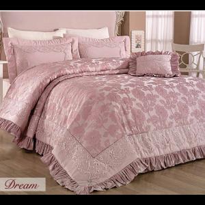 купить Покрывало Evelina с вышивкой 270x265 Dream Пудра Розовый фото