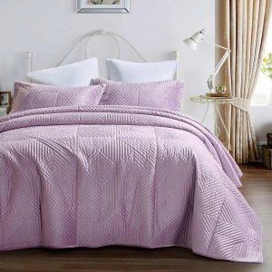 купить Покрывало Arya Бархат 180x240 Belle Розовый фото