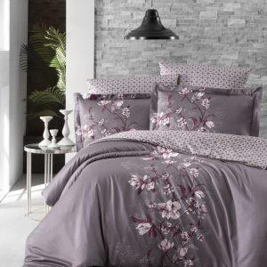 купить Постельное белье First Choice сатин люкс evan lilac Лиловый фото