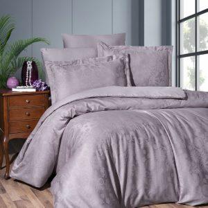 купить Постельное белье First Choice жаккард herra lavender Серый фото
