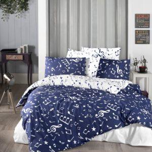 купить Постельное белье First Choice ранфорс major navy blue Синий фото