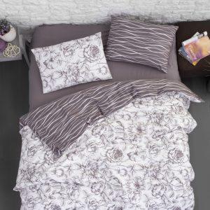 купить Постельное белье First Choice фланель rozen lilac Коричневый фото