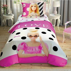 купить Детское постельное белье TAC Barbie Glitter Розовый фото