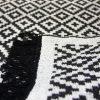 купить Коврик LARA 80*125 LR01 SIYAH BEYAZ Черный|Серый фото 106825