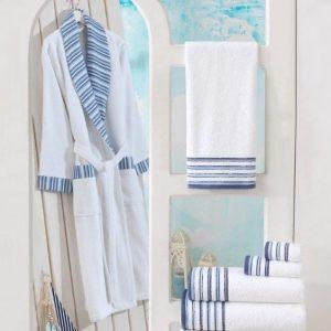 купить Женский махровый халат Zugo Home Long Twist Erkek Белый фото