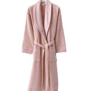 купить Женский махровый халат Zugo Home Long Twist Bayan розовый Розовый фото