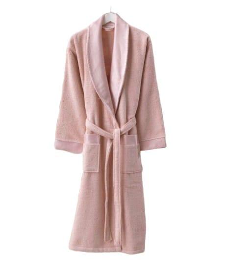 купить Женский махровый халат Zugo Home Long Twist Bayan Розовый фото