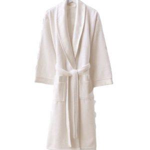 купить Женский махровый халат Zugo Home Long Twist Bayan Белый фото