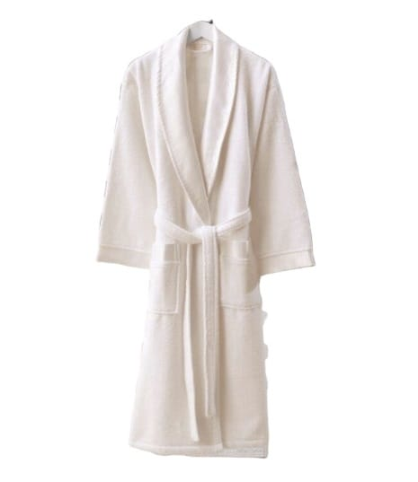 купить Женский махровый халат Zugo Home Long Twist Bayan XL белый Белый фото