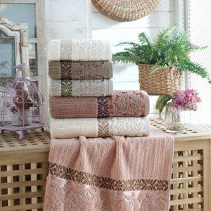 купить Набор махровых полотенец Sikel жаккард Guzide 6 шт  фото