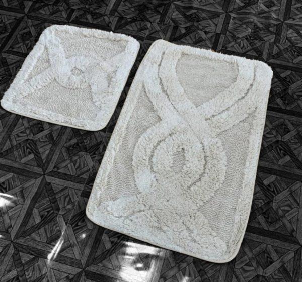 купить Набор ковриков Zugo Home Kario Fidisi 50x60+60x100 Серый фото