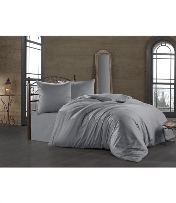 купить Постельное белье Zugo Home сатин однотонный Silver Серый фото