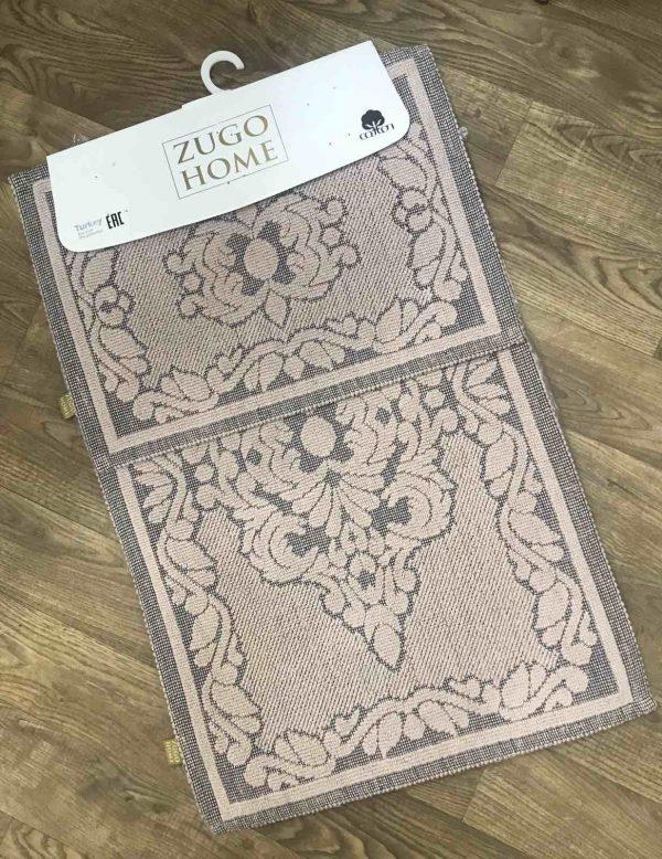 купить Набор ковриков Zugo Home Mercan Pudra 50x60+60x100 Розовый фото