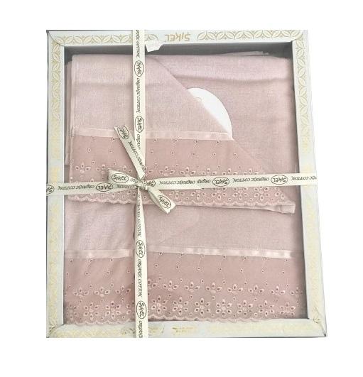 купить Набор махровых полотенец Sikel кружево Grace 30x50 + 50x90 + 70x140 пудровый Розовый фото