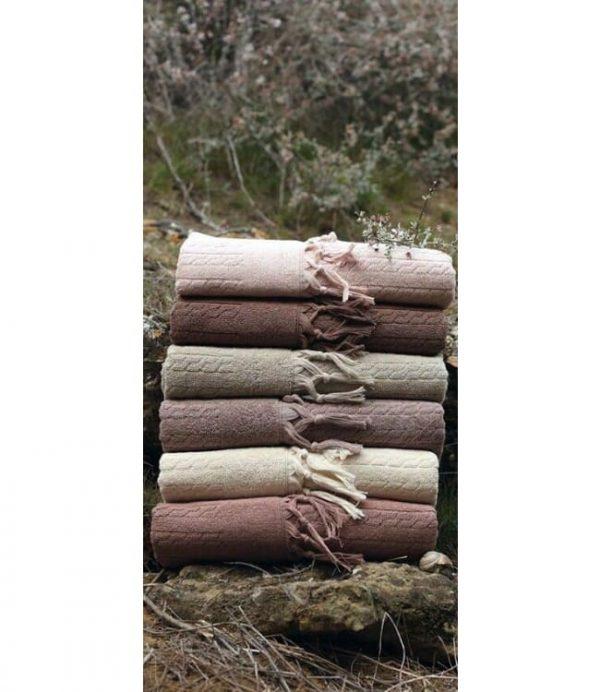 купить Набор махровых полотенец Sikel жаккард Sezak 30x50 6 шт  фото
