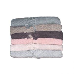 купить Набор махровых полотенец Sikel жаккард Bukle Mikanos 6 шт  фото
