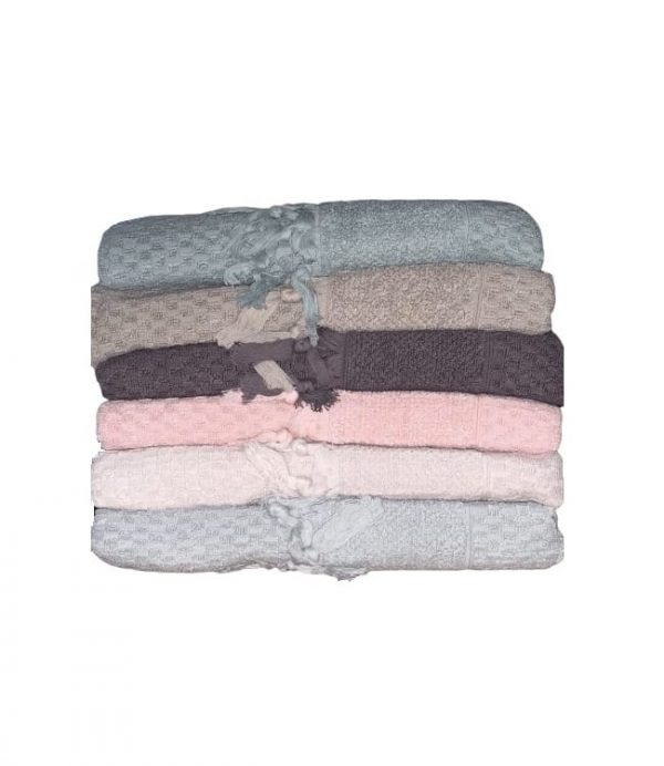 купить Набор махровых полотенец Sikel жаккард Bukle Mikanos 30x50 6 шт  фото