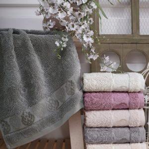 купить Набор махровых полотенец Sikel Cotton Tugra 30x50 6 шт Кремовый фото