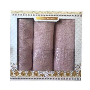 купить Набор махровых полотенец Gold Soft Life Hindistan Розовый фото