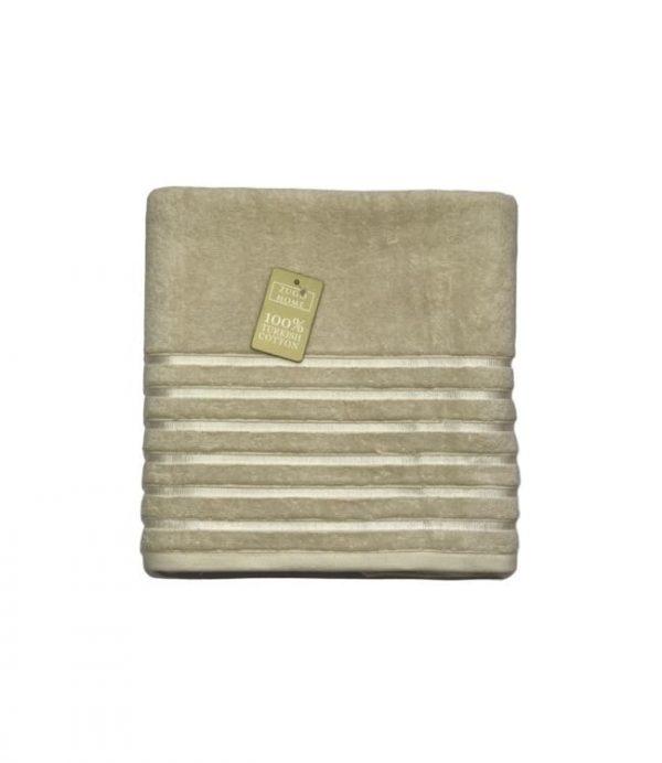 купить Махровое полотенце Zugo Home Long Twist Bayan 100x150 бежевый Бежевый фото