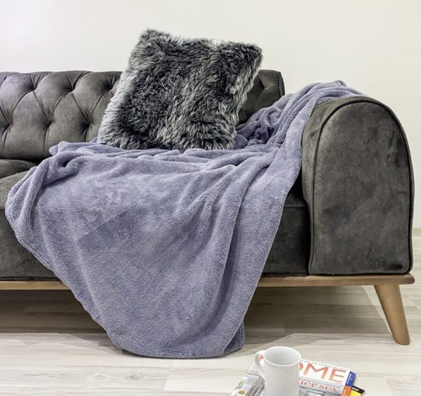 купить Плед Zugo Home Welsoft 200x220 серый Серый фото