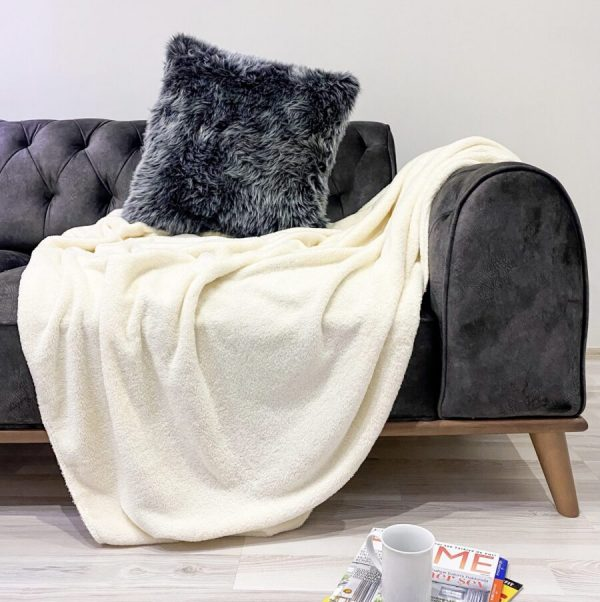 купить Плед Zugo Home Welsoft 200x220 кремовый Кремовый фото