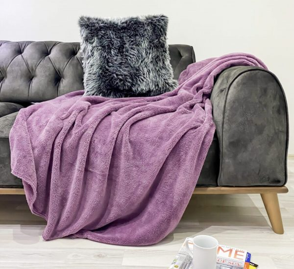 купить Плед Zugo Home Welsoft 200x220 сиреневый Сиреневый фото