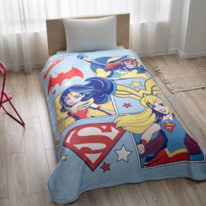 купить Покрывало-плед TAC DC Super Hero Girls Голубой фото