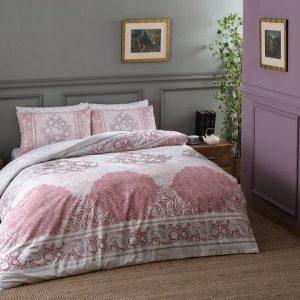 купить Постельное белье TAC Aryan Pink Ранфорс Розовый фото