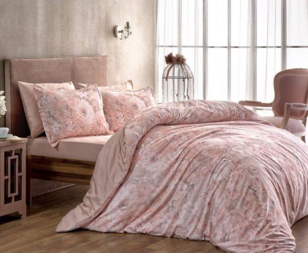 купить Постельное белье TAC Blanche Сатин Digital Розовый фото