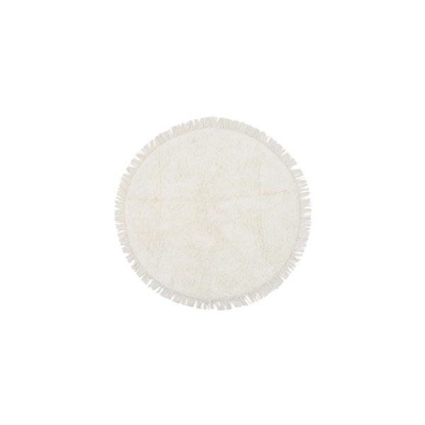 купить Круглый коврик Irya Loris ekru Кремовый|Белый фото