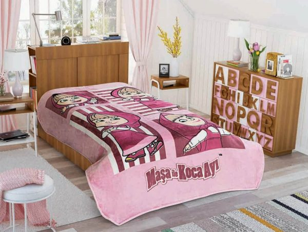 купить Покрывало-плед TAC Disney Masha Bear Image Розовый фото
