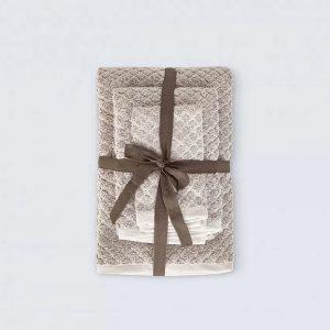 купить Набор полотенец Irya Jena bej Бежевый фото