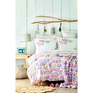 купить Постельное белье с покрывалом пике Karaca Home Camden pembe Розовый фото