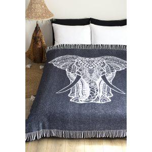 купить Плед Lotus Zeus Elephant антрацит Серый фото