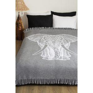 купить Плед Lotus Zeus Elephant grey Серый фото