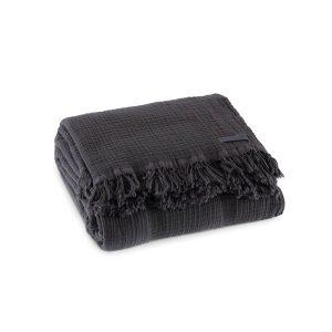 купить Покрывало Penelope Soflin Muslin antrasit Серый|Черный фото
