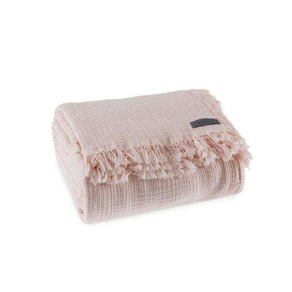 купить Покрывало Penelope Soflin Muslin pudra Розовый фото