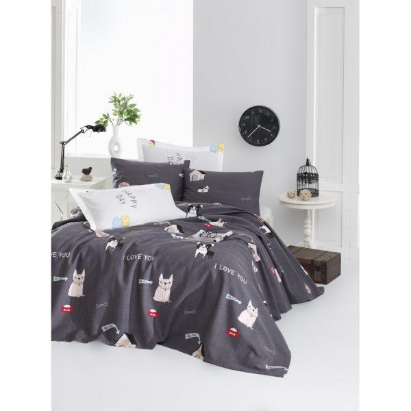 купить Покрывало пике Lotus Home Perfect Woof Серый фото