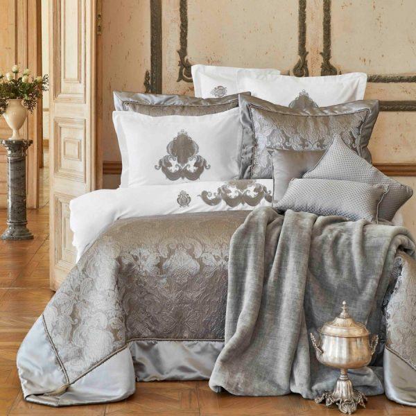 купить Покрывало с наволочками Karaca Home Cornelia antrasit Серый фото