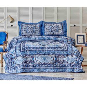 купить Покрывало с наволочками Karaca Home Rubi indigo Синий фото