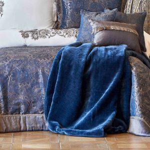 купить Покрывало с наволочками Karaca Home Venita lacivert Синий фото