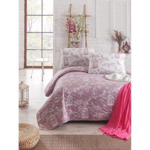 купить Покрывало стеганное с наволочкой Eponj Home Samyeli lila Лиловый фото
