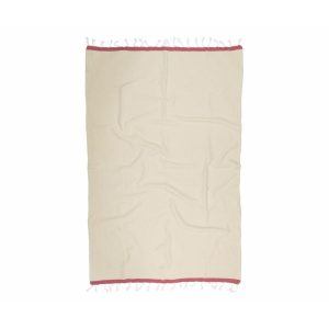 купить Пляжное полотенце Barine Pestemal Basak Beige-Marsala Бежевый фото