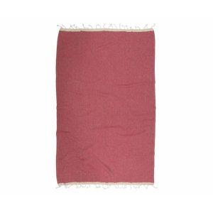 купить Пляжное полотенце Barine Pestemal Basak Marsala-Beige Красный фото